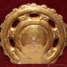 Antigüedades: INTERESANTE CORONA BARROCA PARA IMAGEN REALIZADA EN MADERA TALLADA Y ESTOFADA AL ORO FINO.CIRCA 1770. Lote 50273175