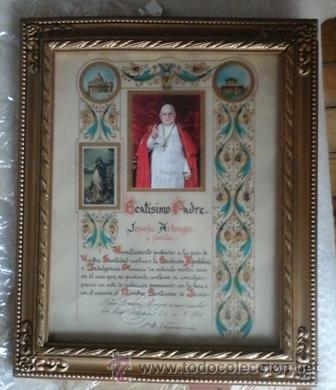 DOCUMENTO INDULGENCIA PLENARIA, JUAN XXIII (Antigüedades - Religiosas - Varios)
