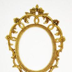 Antigüedades: ESPEJO DE MANO TOCADOR ANTIGUO EN BRONCE. Lote 50295183