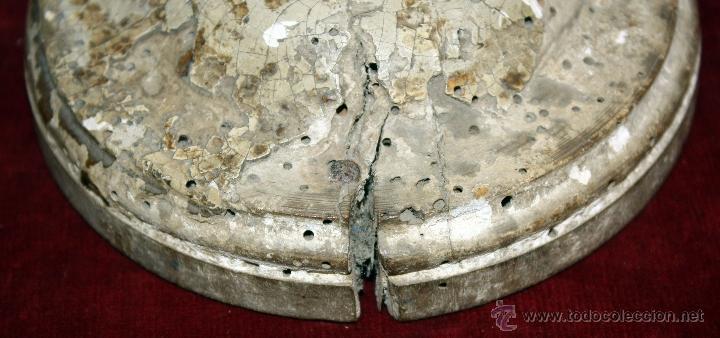 Antigüedades: CANDELERO BARROCO EN MADERA POLICROMADA DE APROXIMADAMENTE 1760-1780 - Foto 6 - 50297325