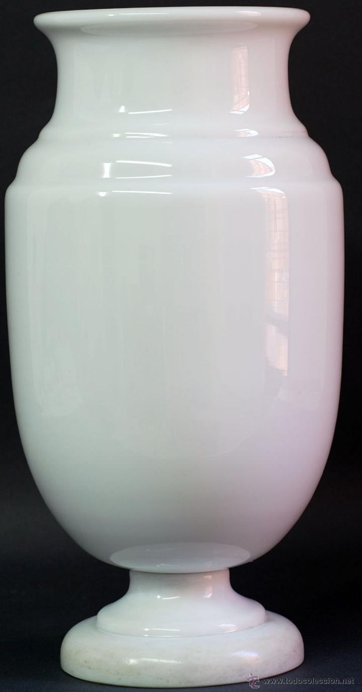 Antigüedades: Jarrón opalina blanca Finales S XIX - Foto 2 - 50304448