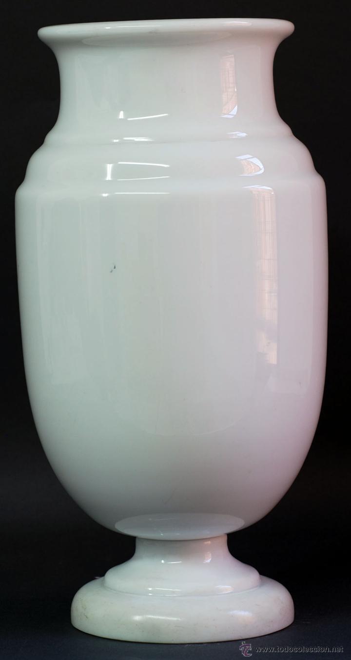 Antigüedades: Jarrón opalina blanca Finales S XIX - Foto 3 - 50304448