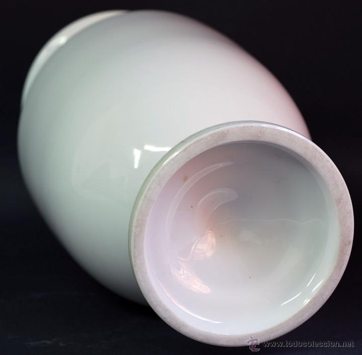 Antigüedades: Jarrón opalina blanca Finales S XIX - Foto 7 - 50304448
