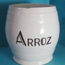 Antigüedades: BOTE DE LOZA PARA ARROZ. ALTURA 14 CM. Lote 50311538