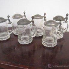 Antigüedades: 6 ANTIGUAS JARRAS DE CERVEZA, ALEMANAS. Lote 50316120
