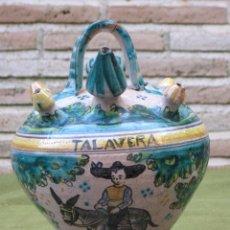 Antigüedades: BOTIJO ANTIGUO DE ENGAÑO, DE EL PUENTE DEL ARZOBISPO / TALAVERA.. Lote 182163143