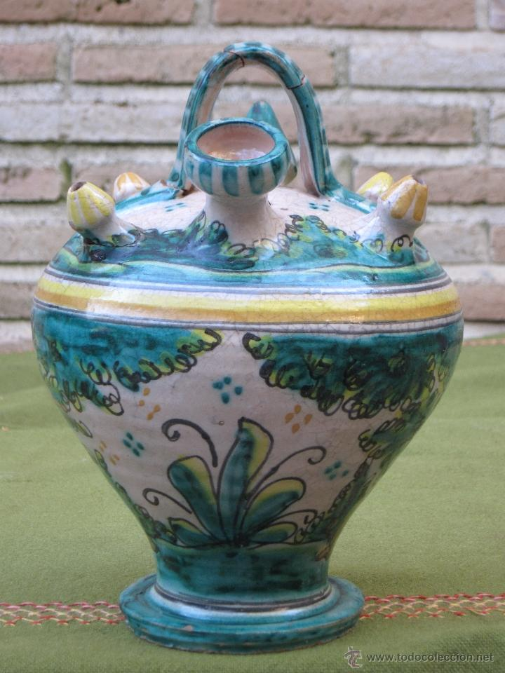 Antigüedades: BOTIJO ANTIGUO DE ENGAÑO, DE EL PUENTE DEL ARZOBISPO / TALAVERA. - Foto 5 - 182163143