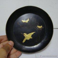 Antigüedades: ANTIGUA BANDEJA CHINA. FINALES S.XIX. MADERA LACADA.. Lote 50319660