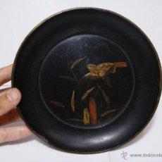 Antigüedades: ANTIGUA BANDEJA CHINA. FINALES S.XIX. MADERA LACADA.. Lote 50319682