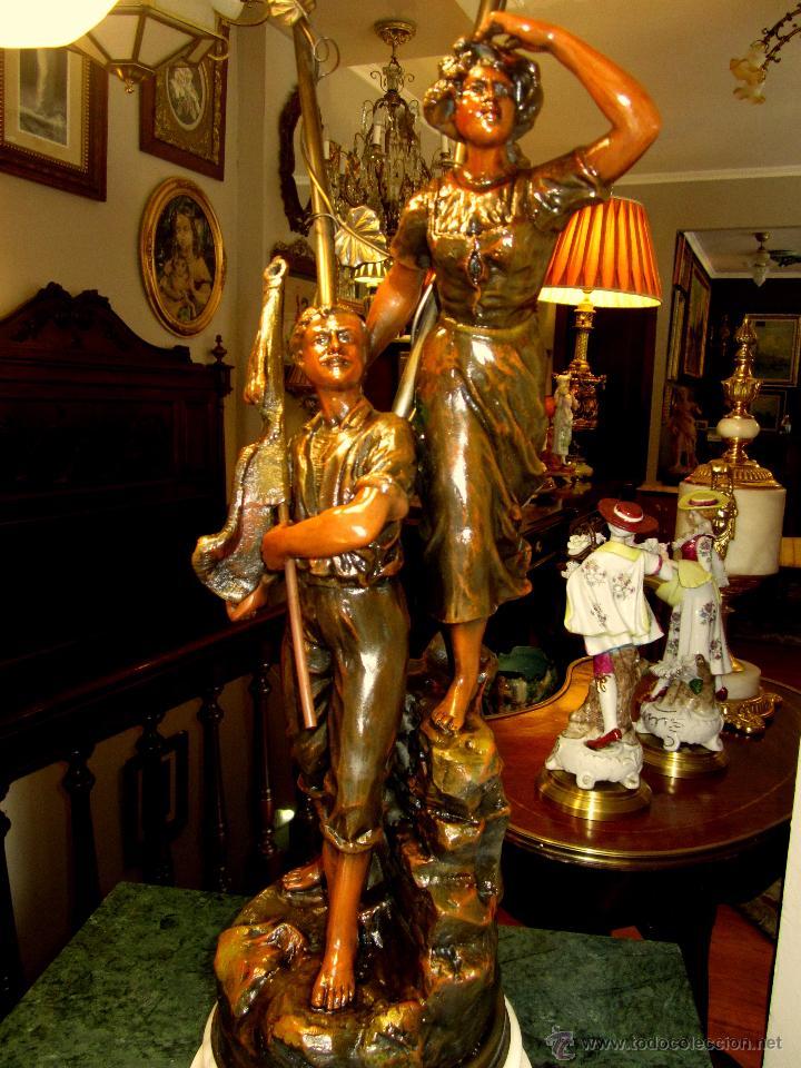 Antigüedades: ESPLENDIDA LAMPARA - Foto 2 - 50323921