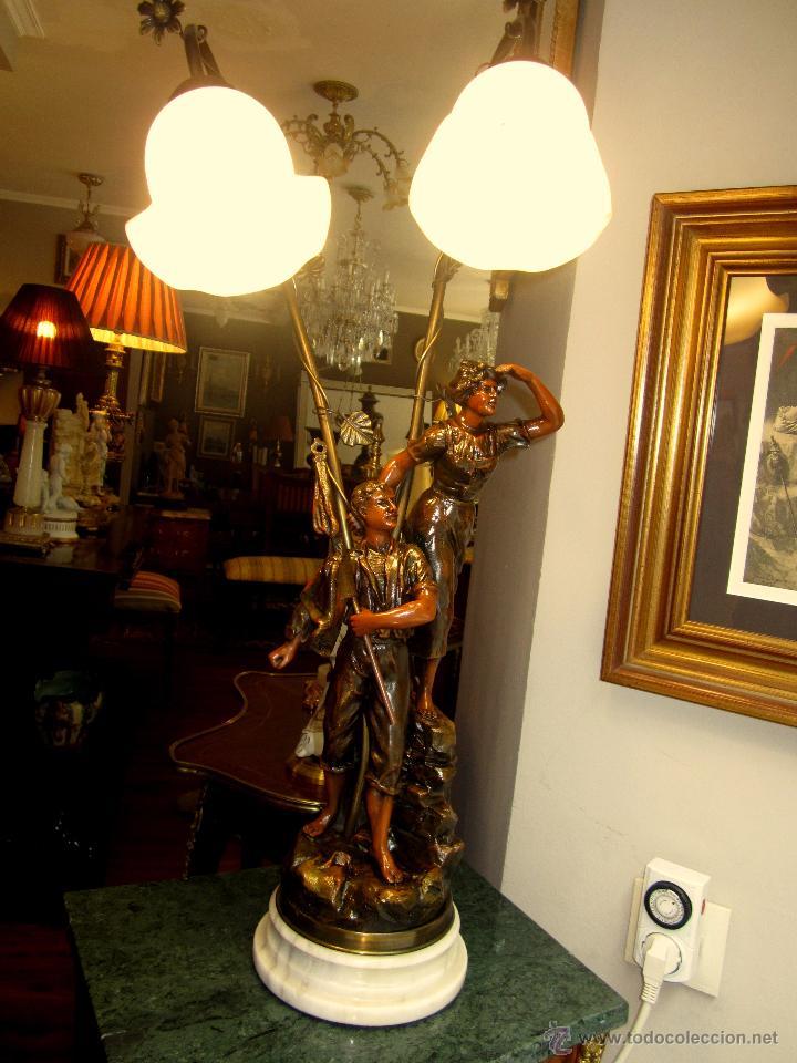 Antigüedades: ESPLENDIDA LAMPARA - Foto 3 - 50323921