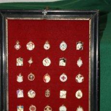 Antigüedades: CUADRO MEDALLAS CRISTO, JESUS NAZARENO Y NUESTRO PADRE JESUS. Lote 50328670