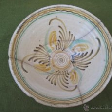 Antigüedades: CUENCO GRANDE ANTIGUO. PUENTE ARZOBISPO ( TOLEDO ) SIGLO XIX - LAÑADO.. Lote 50335806