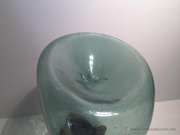 Antigüedades: PORRONA O PORRON DE VIDRIO SOPLADO CATALAN VERDE.SIGLO XIX. - Foto 3 - 50338465