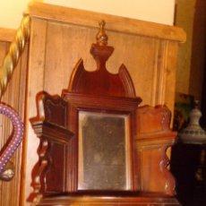 Antigüedades: PRECIOSA MÉNSULA O REPISA EN MADERA TALLADA CON ESPEJO . Lote 50343643