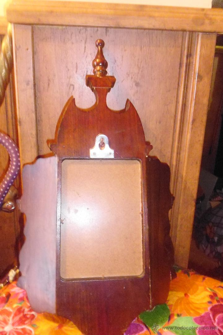 Antigüedades: PRECIOSA MÉNSULA O REPISA EN MADERA TALLADA CON ESPEJO - Foto 5 - 50343643