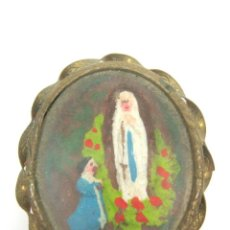 Antigüedades: ANTIGUO PEQUEÑO RELICARIO ESPUMA DE MAR VIRGEN. Lote 50349309
