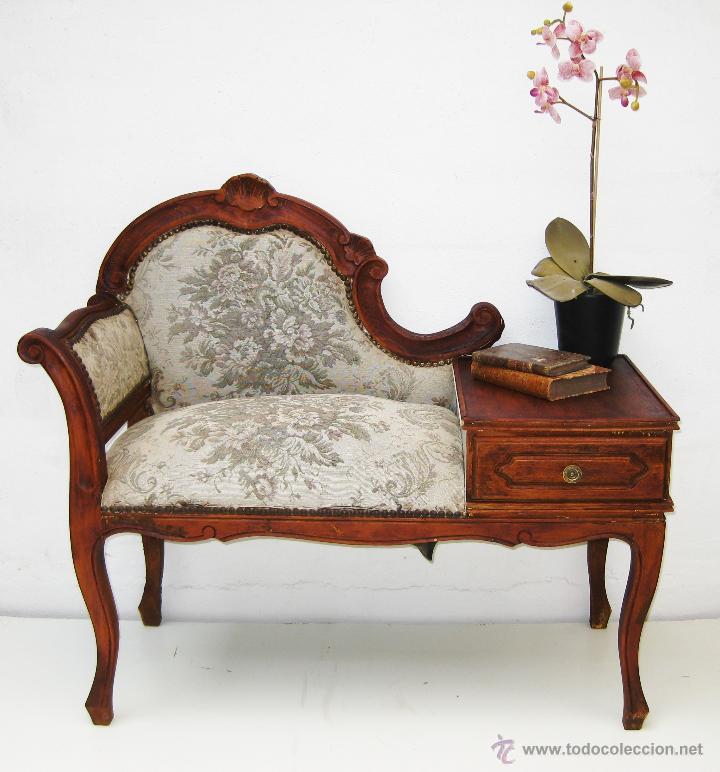 Mueble antiguo vintage sillon telefonera a os 2 comprar for Muebles antiguos vintage