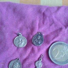 Antigüedades: LOTE 4 MEDALLAS ANTIGUAS RELIGIOSAS. Lote 50354379