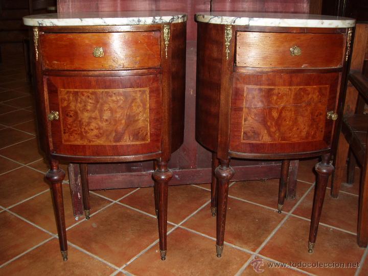 pareja de mesitas de noche antiguas - Comprar Muebles Auxiliares ...