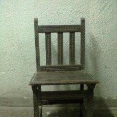 Antigüedades: SILLA CASTAÑO TALLADA PARA RESTAURAR. Lote 50393803