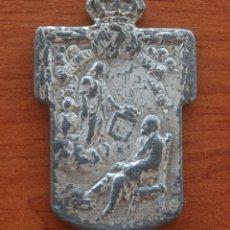 Antigüedades: MUY ANTIGUA Y ESPECIAL MEDALLA CONGREGACION DE CABALLEROS DEL PILAR Y DE SAN IGNACIO . Lote 50399056