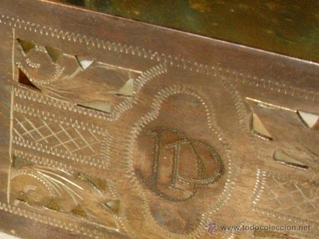 Antigüedades: Servilleteros con caja antiguos, plata de ley o parece totalmente cinceladas con iniciales - Foto 6 - 50412827