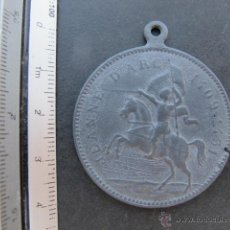 Antigüedades: MEDALLA RELIGIOSA MILITAR JUANA DE ARCO. Lote 50413271