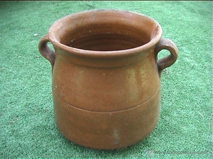 OLLA DE BARRO PUCHERO DE FUEGO CERAMICA POPULAR 17CM (Antigüedades - Técnicas - Rústicas - Utensilios del Hogar)
