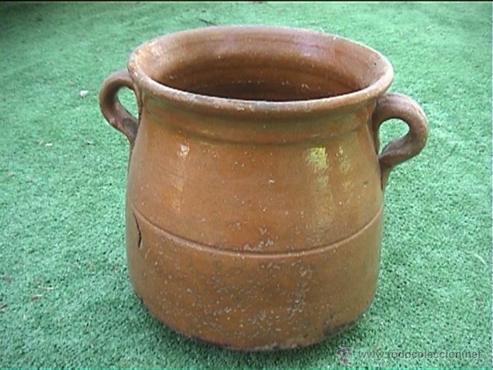 Antigüedades: OLLA DE BARRO PUCHERO DE FUEGO CERAMICA POPULAR 17CM - Foto 2 - 50426444