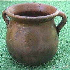 Antigüedades: OLLA DE BARRO PUCHERO DE FUEGO CERAMICA POPULAR 12CM. Lote 50426897