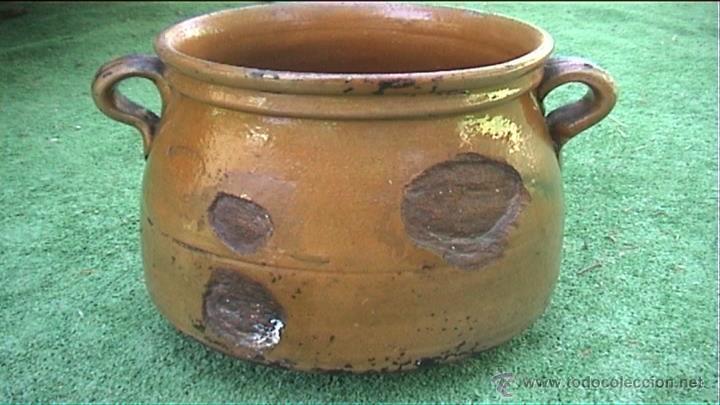 OLLA DE BARRO PUCHERO DE FUEGO CERAMICA POPULAR 20CM (Antigüedades - Técnicas - Rústicas - Utensilios del Hogar)