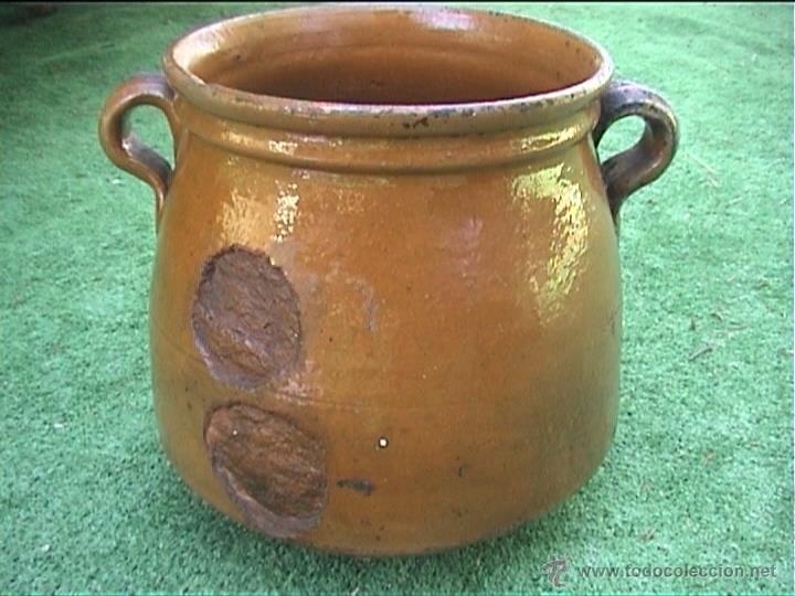 Antigüedades: OLLA DE BARRO PUCHERO DE FUEGO CERAMICA POPULAR 20CM - Foto 2 - 50427014