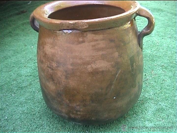 OLLA DE BARRO PUCHERO DE FUEGO CERAMICA POPULAR 23CM (Antigüedades - Técnicas - Rústicas - Utensilios del Hogar)