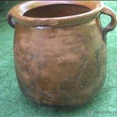 Antigüedades: OLLA DE BARRO PUCHERO DE FUEGO CERAMICA POPULAR 23CM. Lote 50427222