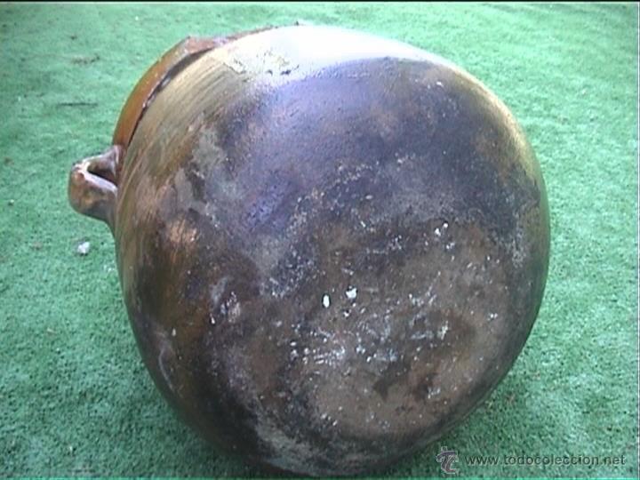 Antigüedades: OLLA DE BARRO PUCHERO DE FUEGO CERAMICA POPULAR 23CM - Foto 3 - 50427222