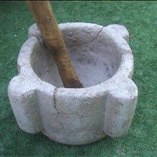 Antigüedades: MORTERO PIEDRA 23X14CMALT SXVIII. Lote 50427546