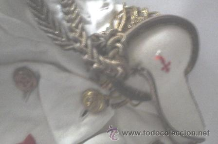 Antigüedades: Antiguo traje de comunión en algodón. Cruz de Santiago bordada - Foto 4 - 50434848