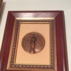 Antigüedades: MEDALLA DE BRONCE DE LA VIRGEN DEL PILAR.. Lote 50438698
