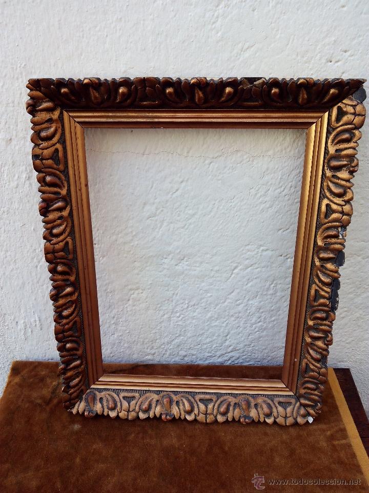Marco estilo barroco de madera comprar marcos antiguos for Espejos decorativos marco de madera