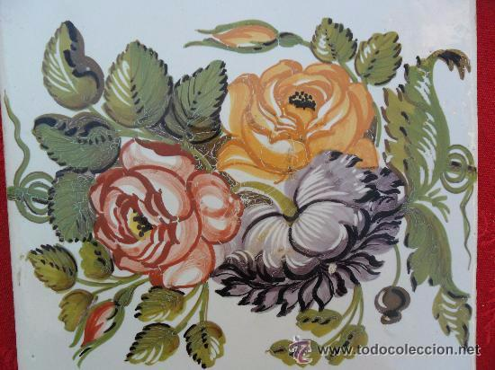 ANTIGUO AZULEJO MODERNISTA - VALENCIA - ONDA - NOVELLA (Antigüedades - Porcelanas y Cerámicas - Azulejos)