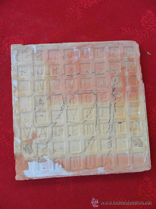 Antigüedades: Antiguo azulejo modernista - Valencia - Onda - Novella - Foto 4 - 50450975