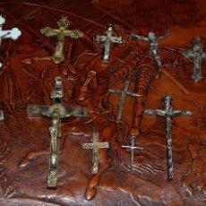 Antigüedades: COLECCIÓN DE TRECE (13) CRUCIFIJOS. Lote 50459401