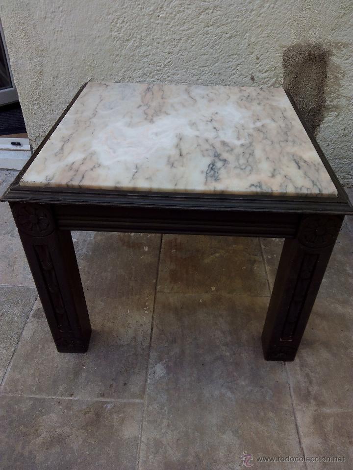 Mesa de m rmol y madera comprar mesas antiguas en - Mesas de marmol precios ...