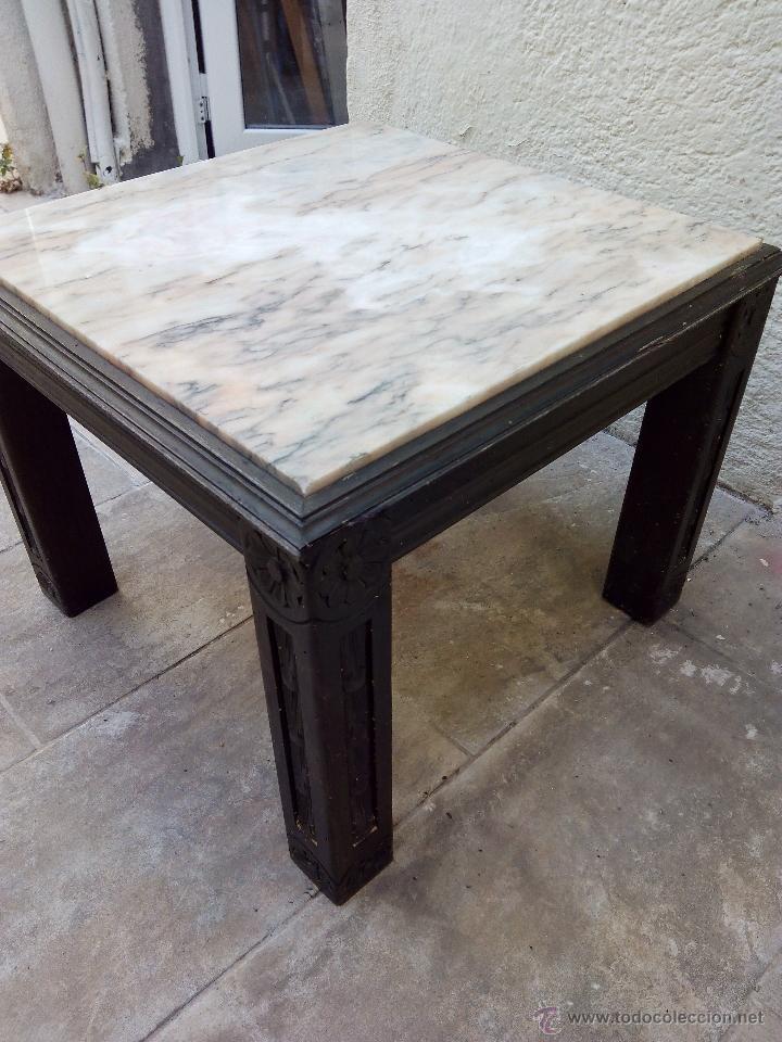 Mesa de m rmol y madera comprar mesas antiguas en for Marmol para mesa