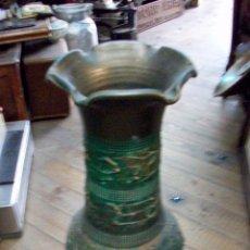 Antigüedades: ANTIGUO FLORERO DE CERAMICA. Lote 50465066