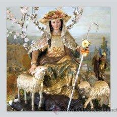 Antigüedades: AZULEJO 15X15 DE LA PASTORA DE CANTILLANA. Lote 50468573