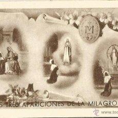 Antigüedades: ORACION DE LAS TRES APARICIONES DE LA MILAGROSA. Lote 50469318