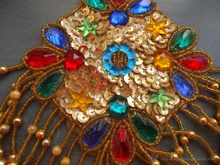 Antigüedades: gran lote espectaculares antiguas aplicaciones apliques para tajes fiesta fantasia bordados .... - Foto 9 - 50477121