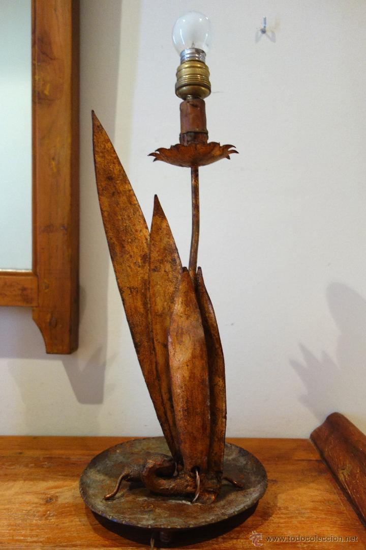 pan a en Lámpara Vendido y mesa de de en antigua oro metal 0mwv8yNOn